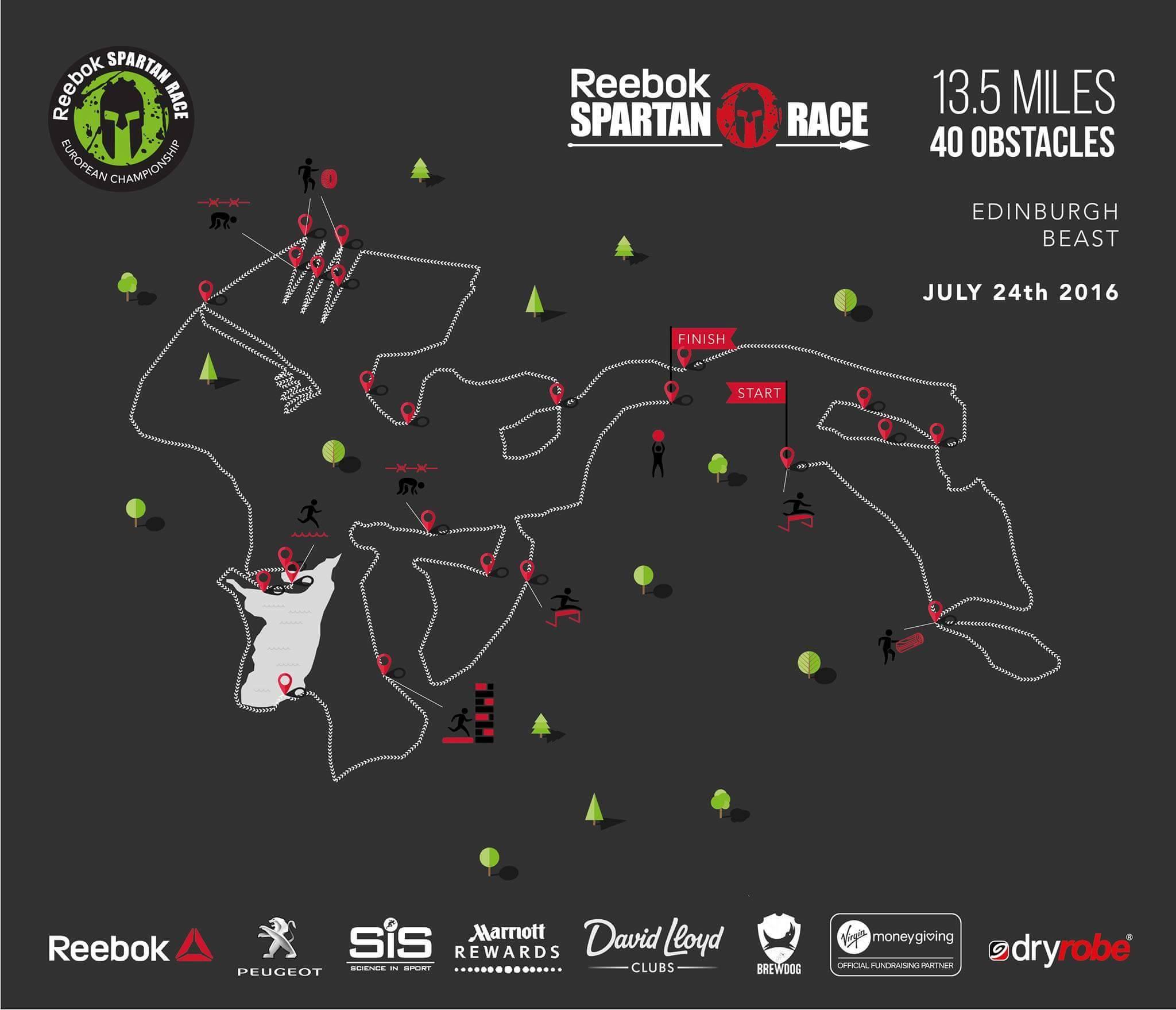 Parcours Beast Championnats d'Europe 2016 Spartan Race Édimbourg