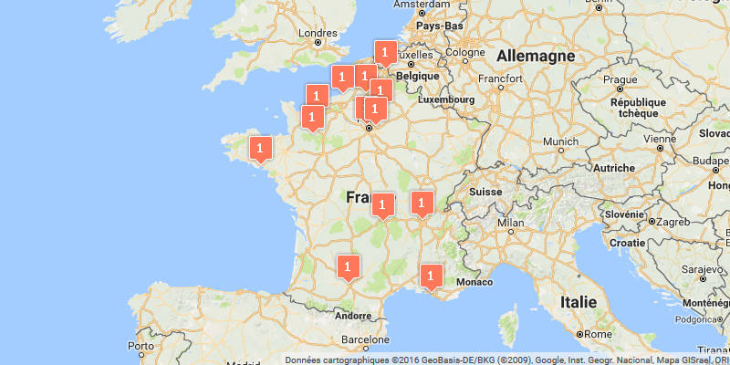 Carte des courses d'obstacle