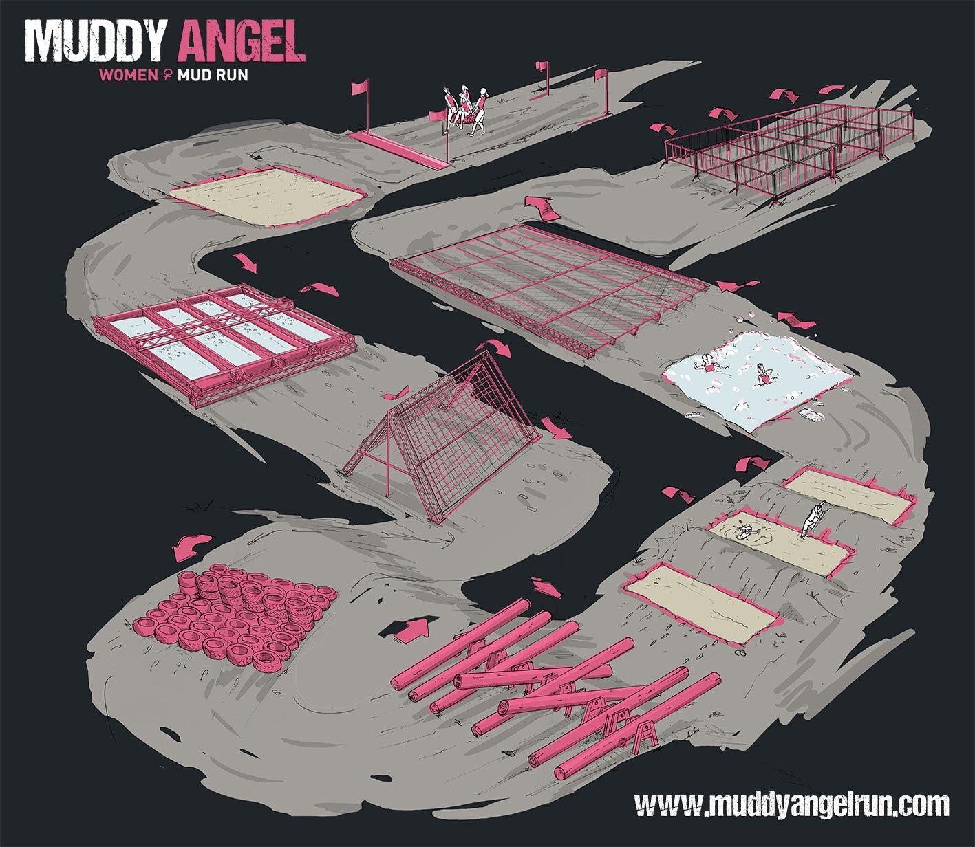 Obstacles Muddy Angel Run